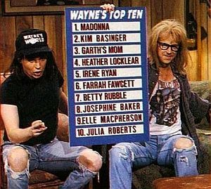 Wayne's Top Ten